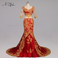 ADLN Sexy Prom dresses Long with Beaded Gold Applique Sweetheart Formal Evening Prom Dress