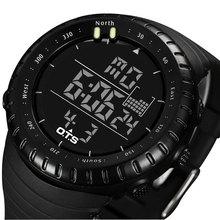 2017 Sport Montre Numérique Hommes Top Marque De Luxe Célèbre Mâle LED Montres Horloge Électronique Numérique-montre Hodinky Relogio Masculino