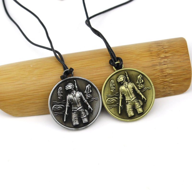 Game Playerunknowns Battlegrounds PUBG 2017 Necklace pendants keyring antique women men Christmas gift Sweather Chain