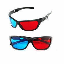 New Black Frame Universal 3D Plastic glasses Red Blue Cyan 3D Glass Anaglyph 3D Movie Game DVD Vision/Cinema(China)