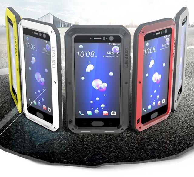 outlet store 95fae b9fa9 US $25.9 |Original Case For HTC U11 Case Cover Waterproof Case HTCU11  Shockproof Aluminum Back Phone Case For HTC U 11 U11 fundas Love Mei-in  Fitted ...