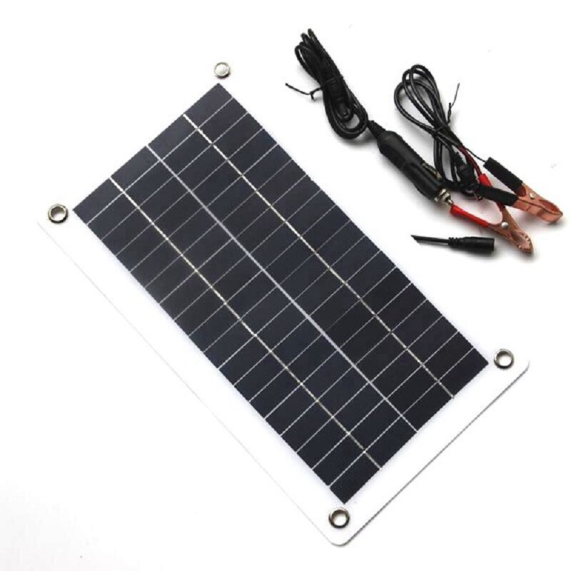 10W 18V 12V Portable Solar Panel Charger with DC 5521 Cable For 12V Car Boat Motor Battery Chargers image