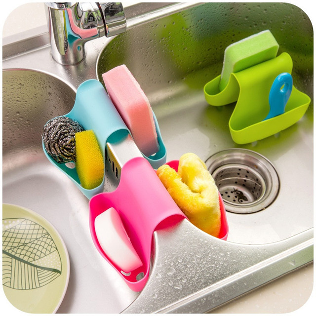 Kitchen Gadgets Double Sink Caddy Hanging Basket Kitchen Accessories on