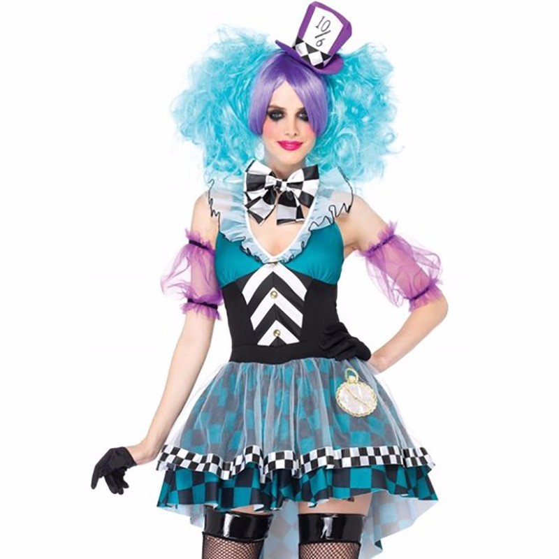 Adult the Mad Hatter Costume Alice in Wonderland Party Costume Cosplay Mad Hatter Dress Halloween Costumes for Women Fancy Dress