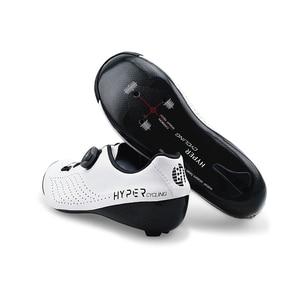 Image 3 - מקורי Hyper נעלי רכיבה חום Moldable 3K סיבי פחמן כביש אופני סניקרס 1 שרוכי נעילה עצמית תרמופלסטיים אופניים