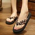 Mujeres Chanclas de Verano Cuñas de Plataforma Sandalias Cómodas Zapatillas de Playa Ocasional Más El Tamaño de Zapatos de Las Señoras Negro