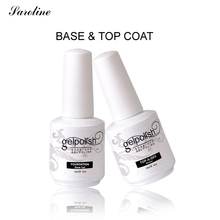 Saroline Soak Off Gel Rubber Base Coat top coat UV Nail Polish Lacquer Gel Primer Vernis Semi Permanent Gelpolish LED UV