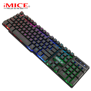 Image 4 - iMice Gaming Keyboard Imitation Mechanical Keyboard with Backlight Wired USB Game keyboards for DOTA CS with RU Stickers
