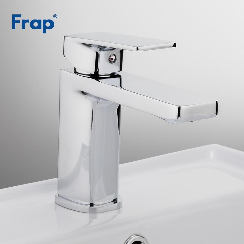 Frap Ванная комната кран умывальника, хром раковина смеситель тщеславие горячая холодная и водопроводной воды Санузел Робине salle de bain f1046