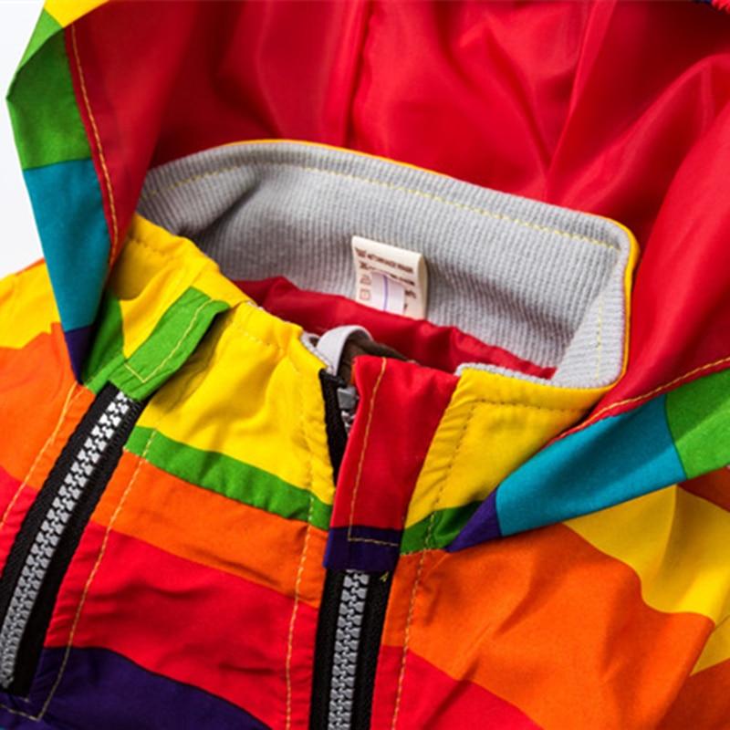 Baby Girl Jacket Boy Hooded Coat Solskyddsmedel Kläder Rainbow - Barnkläder - Foto 5