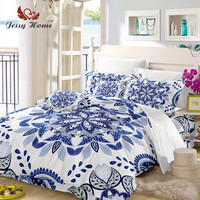 Blue and white porcelain Bedding Set Queen Size Chinese Duvet Cover Bed Set Bedclothes 3pcs US/AU/RU Size with Pillow Case M945
