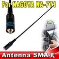 Venta caliente Para NA771 Nagoya NA-771 SMA-F Antena de Mano de Doble Banda 144/430 MHZ de Dos Vías de Radio Antena Soft para Baofeng/Kenwood