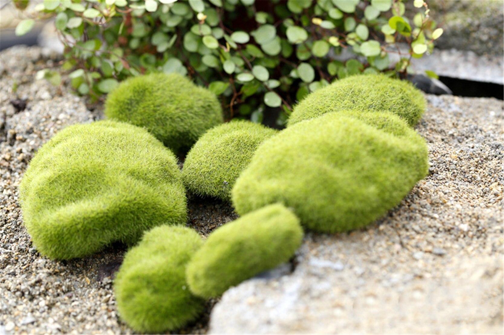 Fairy Garden Mini Foam Flocking Stone Craft Moss House Home ...