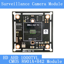 HD Color CMOS 1000TVL AHD Camera Module Surveillance Cameras 8901A+H42 PCB Board PAL / NTSC Optional