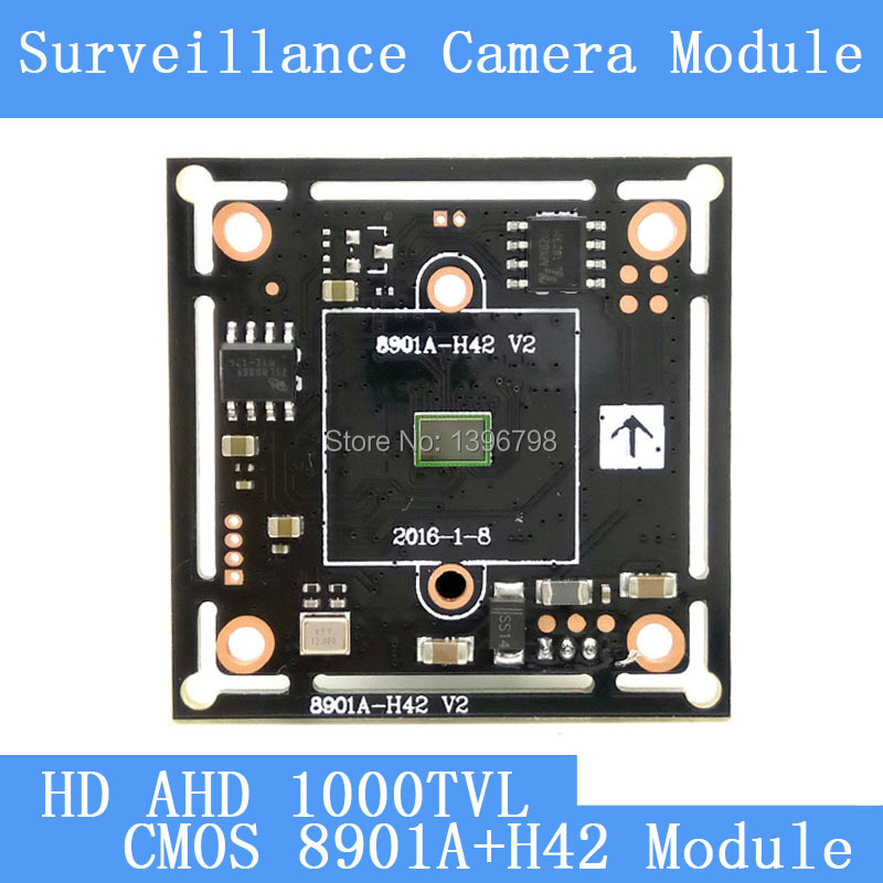 PU`Aimetis HD Color CMOS 1000TVL AHD Camera Module Surveillance Cameras 8901A+H42 PCB Board PAL / NTSC Optional pu aimetis 4in1 1000tvl ahd cctv camera module 3mp 3 6mm lens pal or ntsc optional surveillance camera ir cut dual filter switch