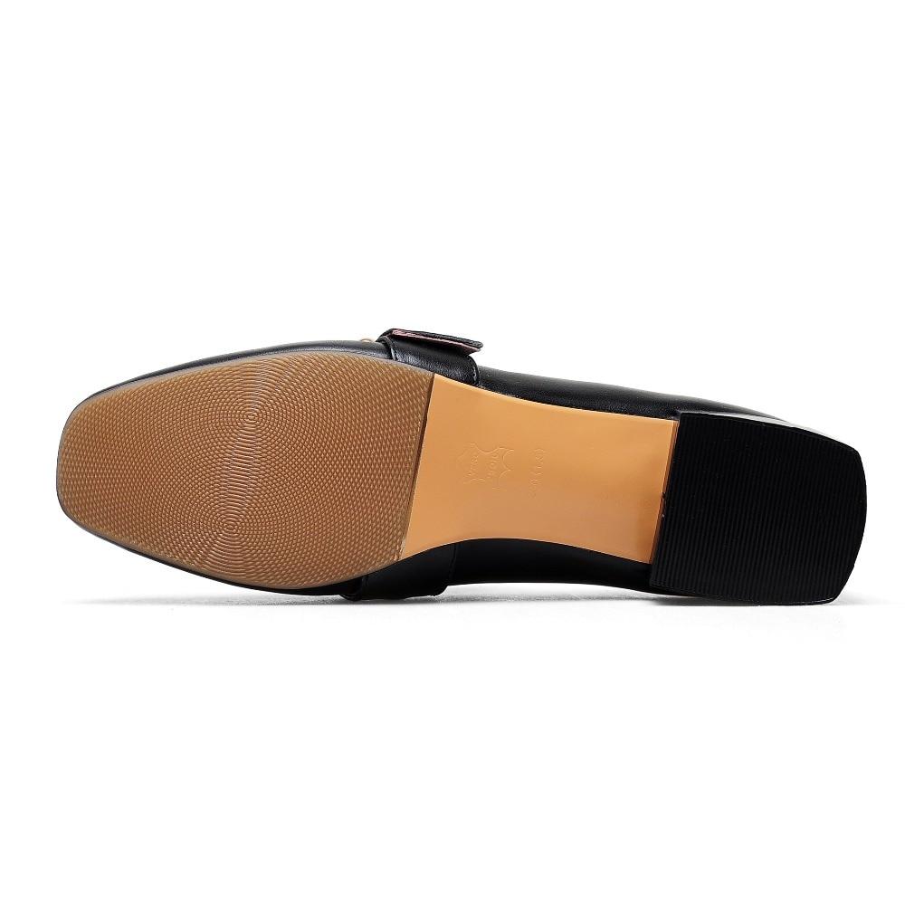 43 Mujeres De 2018 Señoras Cuero Primavera 42 Otoño Grandes Zapatos black brown Furtado Brown Tacones Arden Beige Brogue Genuino Size41 Bajos Cuadrados UwBvp6cq