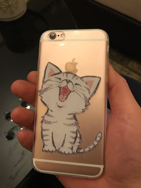 Cat Soft Silicon Transparent iPhone Case