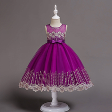 CAILENI Fashion Sleeveless Girls Ball Grown Princess Dress For 1-14 Years Kids Birthday Wedding Ceremony Party Frock robe fille