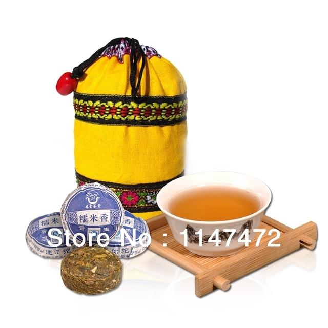 Yunnan ChangYun Mini Tuocha Puer Arroz Glutinoso Chá Cru para Emagrecimento Corpo Étnica Presente Pu'er Pu Er Saúde 50 pcs