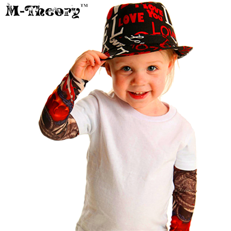 6 Pcs Kids Fashion Tattoo Sleeves Body Art Leggings Boys Girls Party Wearings