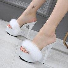 Sandals Slippers WADNASO Wedding-Shoes Pink High-Heels Sexy Black Summer Women Super