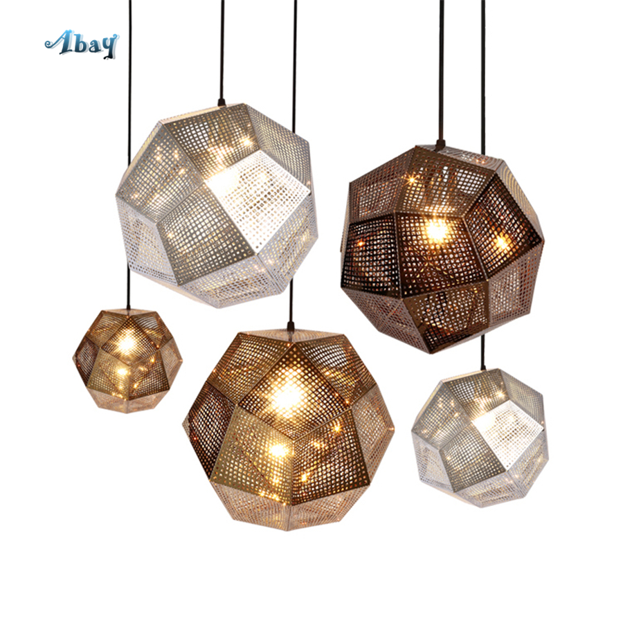 Geometric Metal Box Pendant Lights