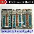 Alta Qualidade Novo Display LCD + Digitador do Toque de Vidro Da Tela assembléia para huawei mate 7 mate7 celular 6.0 polegada com quadro