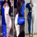 Hot New Women Summer Celebrity  Night Club Cut Up jumpsuit sexy Ladies   Bandage Cut Out Catsuit