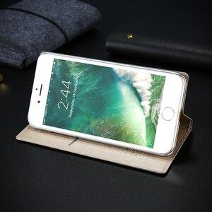 Image 5 - Чехол FLOVEME для iPhone 5 5S SE, чехол для iPhone 8, роскошный брендовый кожаный чехол с откидной крышкой и отделением для карт, чехол для телефона iPhone X, 7, 6, 6S, чехол