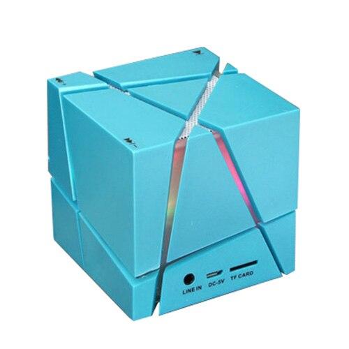 Компания LED творческий Портативный <font><b>Cube</b></font> Типа <font><b>Bluetooth</b></font> Динамик синий
