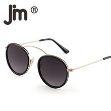 JM Retro Vintage Round Sunglasses Circle Flat Mirrored Lens Sun Glasses Metal Frame Shades for Women Men все цены