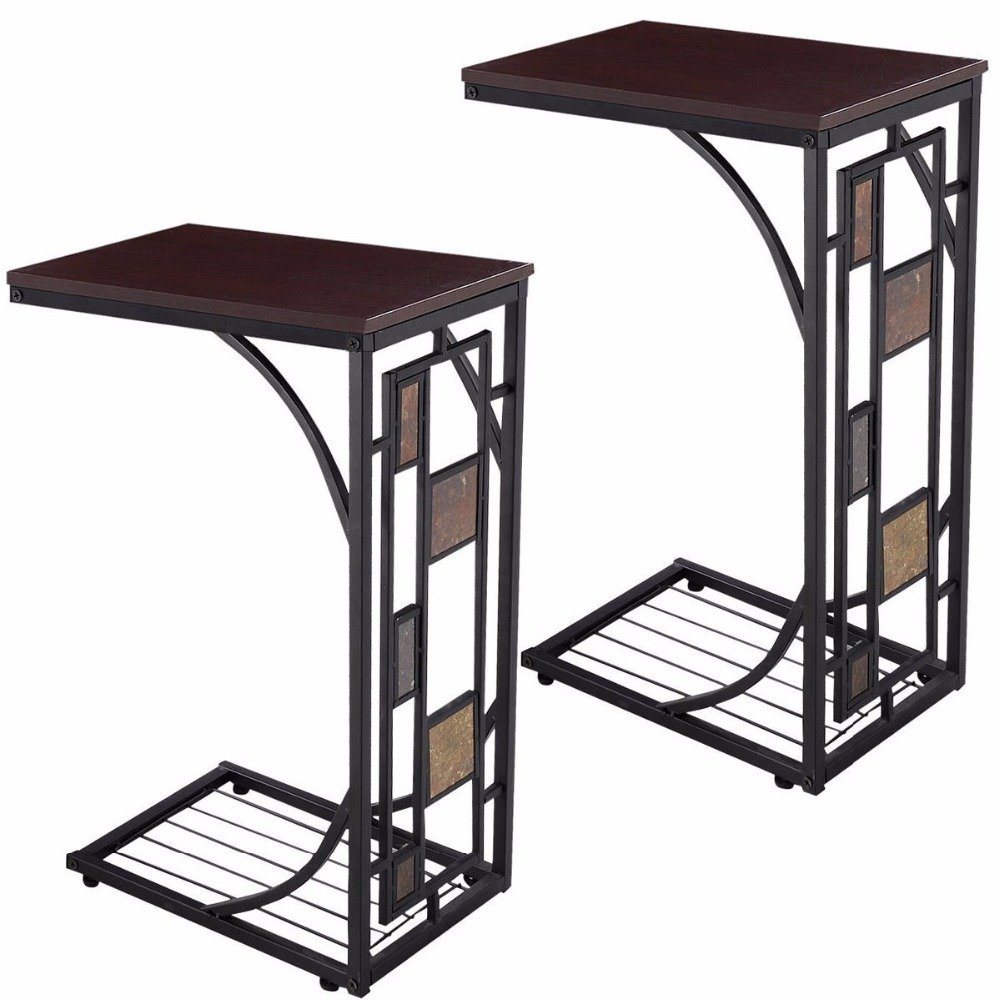Popular tv tray table buy cheap tv tray table lots from for Side table for sectional sofa