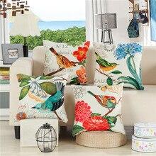 Hap-deer, cojines decorativos con estampado de aves Vintage europeas para sofá, cojines, cojines para silla de jardín exterior, cojín decorativo sin relleno