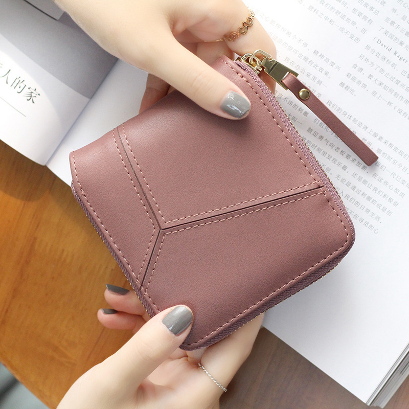 Long Zipper Women Purse Geometric Wristband Women Wallet Female  Large Capacity Coin Wallet Purse Brand New Fashion Phone Clutch 2pcs lot new fashion animal 3d cat dog printing coin purse 100% polyester zipper wallet brand women bag monederos wallet