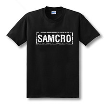 2016 new US drama chaos son t-shirt sons of anarchy samcro short-sleeved t-shirt cotton loose men and women t shirt