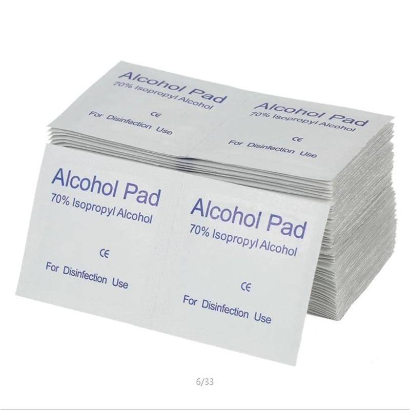 100pcs/Box Disposable Emergency Clean Medical Sterilization Alcohol Disinfection Cotton Sterilization Cotton Sheet First Aid