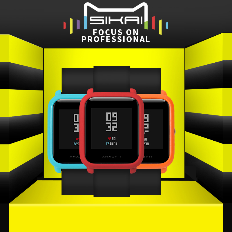 SIKAI For Xiaomi Huami Amazfit font b Watch b font Accessories PC Case For Huami Amazfit