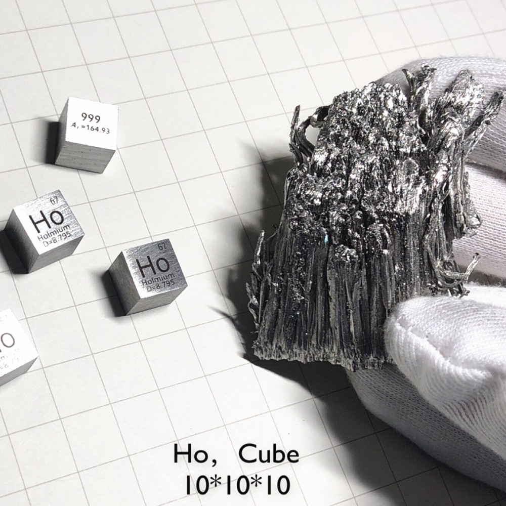 Rare Earth Metal Holmium Cube for Element Collection Science Experiment High Puirty 10x10x10mm Ho for Lab Research Teaching AidRare Earth Metal Holmium Cube for Element Collection Science Experiment High Puirty 10x10x10mm Ho for Lab Research Teaching Aid