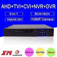 Hello3521A 16CH/8CH 5 in 1 Blue-Ray Case 1080P/960P/720P/960H Surveillance Video Recorder Hybrid TVI CVI NVR AHD DVR Free transport