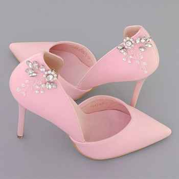 e4e37d96ac Shoe Clip Rhinestone Pearl DIY Shoes Women Elegant High Heel Sandal