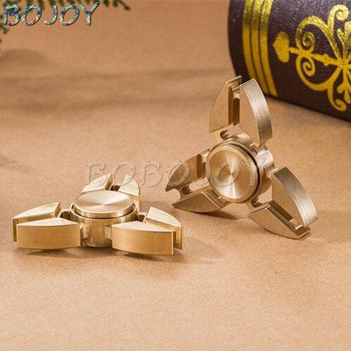 EDC Finger Spinner Tri-Spinner Fidgets Pattern Hand Spinner Brass Fidget Spinner Metal ADHD Adults Children Educational Toys