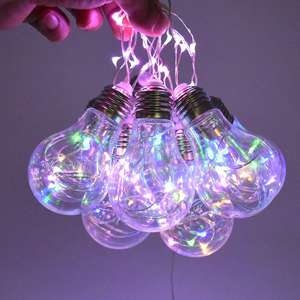 Globe String Light 2.5M with 10led Warm white Bulbs listed for Indoor Outdoor Light Decoration for Bedroom Garden Patio Party