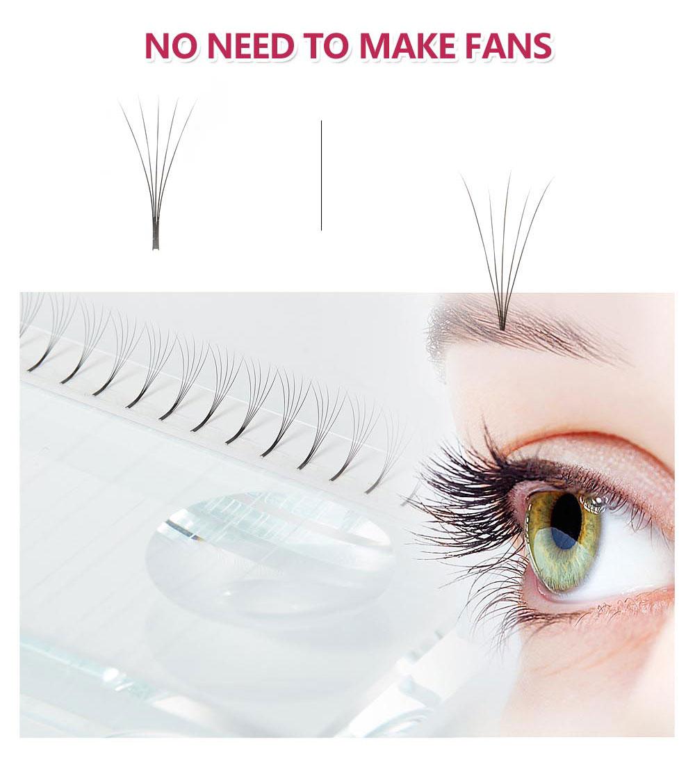 Image 2 - Yelix Russian Volume Eyelash Extensions 2D 3D 4D 5D 6D Premade Volume Fans Cluster Lashes False Eyelashes Cluster-in False Eyelashes from Beauty & Health