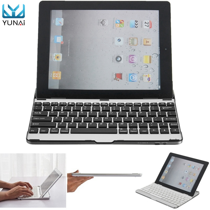 YUNAI Aluminum Wireless Bluetooth 3.0 Keyboard Stand Case Cover Dock For iPad 2 3 4 New Design For iPad Case Cover For iPad 234 кейс для диджейского оборудования thon dj cd custom case dock