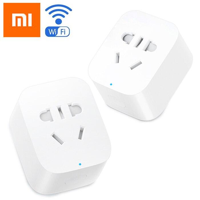 Original Xiaomi mi Jia mi poder inteligente enchufe inalámbrico básicas WiFi APP Control remoto temporizador interruptor Powercube DE la UE DE adaptador