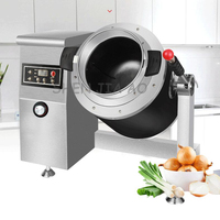 CCJ N03CS commercial Food Cooking machine Electromagnetic roller wok Automatic meat vegetable cooker 3600w Non Stick 220v