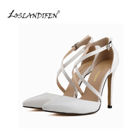 Fashion Womens Stilettos High Heels Ankle Strap Sexy Sandals Summer Party Shoes 302 12PA