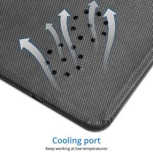 Image 4 - Fonken Draadloze Oplader Muismat Qi 10W Draadloze Usb Opladen Voor Telefoon Bureau Oplader Pad Pu Houtnerf Quick charge Dock