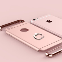 For iphone 6 6s 6plus 6s plus Case UV material luxury Metal + Hard PC Ring Holder Stand fashion Back Cover Shell Business Simple