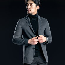 Men's Suits Woolen Jacket Hand-made Sewing Men Coats & Jackets Autumn and Winter Warm and Comfortable High Quality Clothing 3XL